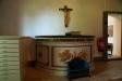 Gamla altarbordet från 1830 förvaras i sakristian.