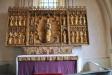 Närbild av altarskåpets centrala del. Foto:Bertil Mattsson