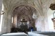 Dopfunten av gotländsk sandsten troligen från 1200-talet.