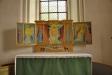 Altarskåp från 1950-talet av Syster Marianne i Alsike kloster