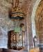 Predikstol från 1685 har tidigare suttit på södra sidan