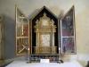 Altarskåpet som troligen stått i Åkerö gårdskapell