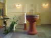 Den restaurerade gamla altaruppsatsen