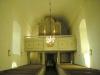 Den trånga 1100-talskyrkans långhus är nuvarande kyrkan västra korsarm.