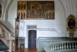 Altarskåpet som togs ner från vinden och restaurerades 1927 hänger nu ovanför sakristiedörren