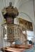 Predikstol från 1687 gjord av mäster Anders Lignario (=snickare) och målad av Erik Hwass