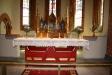 Altaruppsatsen i närbild.