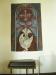 Dopbonad med Andens duva utförd 1977 av Suzanne Hubbard