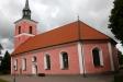 Den rosa färgen fick kyrkan  vid renoveringar 1999 och 2005.