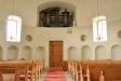 Här kan man se resterna av rundkyrkan. Orgeln har ett väldigt litet utrymme.