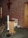 Dopfunten vid ingången till kyrkan.