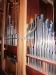 Ena sidans orgels ljudpipor.