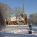 Gislaveds kyrka på vintern