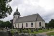 Målning som visar den gamla kyrkan