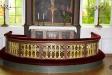 Altartavlan målad direkt på väggen.