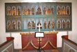 Ett mycket vackert altarskåp i trä från 1450.