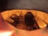 Brahegraven kan beskådas genom små hål i dörren.