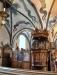 Predikstol från 1627-28 i ett fantastiskt intarsiaarbete av okänd mästare i Åbo