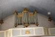 Ett av två modellskåp som står längst ner i kyrkan.