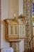 En av tre tavlor som ursprungligen fungerade som altartavlor. Målade av konstnären G E Ström.