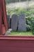Bevarade stenar vid klocktornets fot.
