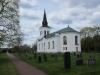 Östra gaveln på Almesåkra kyrka.