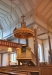 Predikstolen lär vara från kyrkans byggår