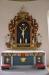 Närbild altare och altaruppsats