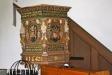 Predikstolen i barock tillverkad 1642.