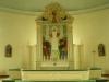 Altartavlan är målad av konstnären Valdemar Lorentzon 1960