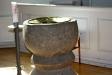 Dopfunten i granit är sannolikt från 1200-talets första hälft.