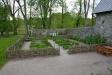 Del av klosterträdgården.