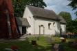 Och en nyare träskulptur på samma tema. Passar in oväntat bra i den här gamla enkla kyrkan.