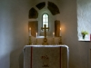 Altaret m Spångbergs kors