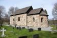 Kyrkan är helt uppbyggd med natursten från grund till taket