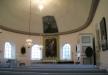 Målning i taket över altartavlan är utförd av Justelius i Eksjö