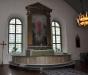 En betydligt enklare predikstol än den från 1686 som nu är borta.