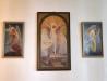 Tre målningar av Ludvig Frid