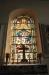Glasmålningen över altaret är från 1880-talet