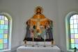 Altaruppsatsen lär vara det sista större arbetet av Eva Spångbergs hand