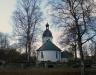 Kyrkan i vårvintertid.Foto:Bernt Fransson