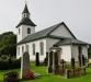 Herråkra kyrkas exteriör från öster