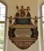 Epitafium över en prost som verkade i Nottebäck på 1750-talet