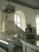 Predikstolen var tidigare placerad över altaret men flyttades till sin nuvarande plats 1955