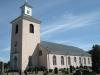 Exteriör augusti 2013. Kyrkan är lätt rosafärgad.