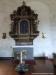 Altaruppsatsen tillverkades 1731 av Sven Segervall