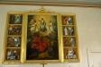Altartavla från 1881 av Ludvig Frid.1967 kom sidostycken av David Ralson till.