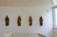 Medeltida träfigurer från ett altarskåp