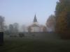 Berga kyrka taget från prästgården
