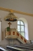 Predikstolen är troligen från början av 1700-talet